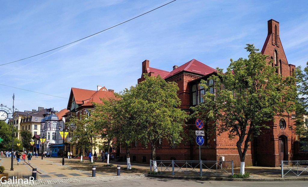 Главная пешеходная улица Зеленоградска