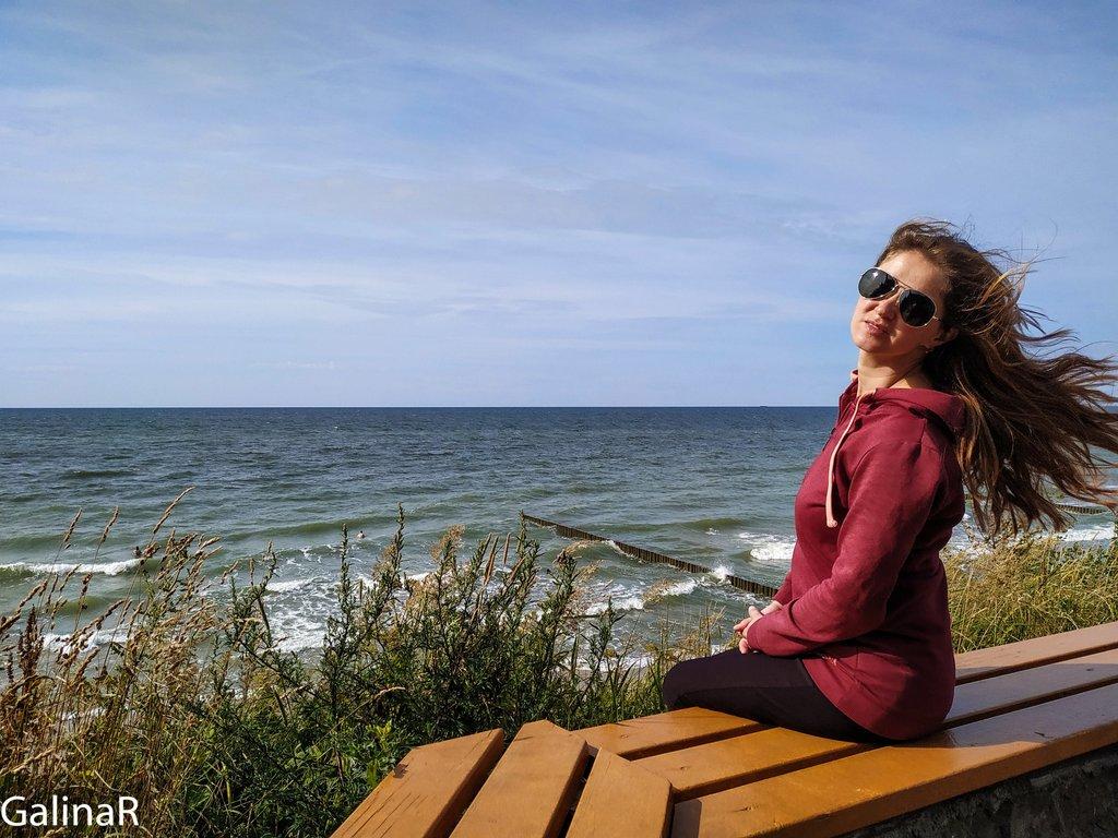 На море в Зеленоградске